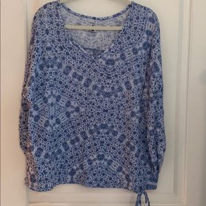 NY & C knit top roll 3/4 sleeves and drawstring